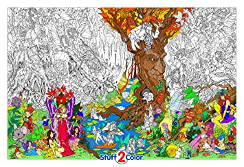 Amazon.com: Beneath the Trees - Giant Wall Size Coloring Poster ...