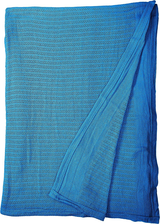 Fiesta Thermal Cotton Blanket, King, Lapis Blue