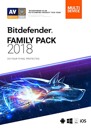 Bitdefender Family Pack 2018 | Unlimited Devices, 1 Year | Download [Online Code]