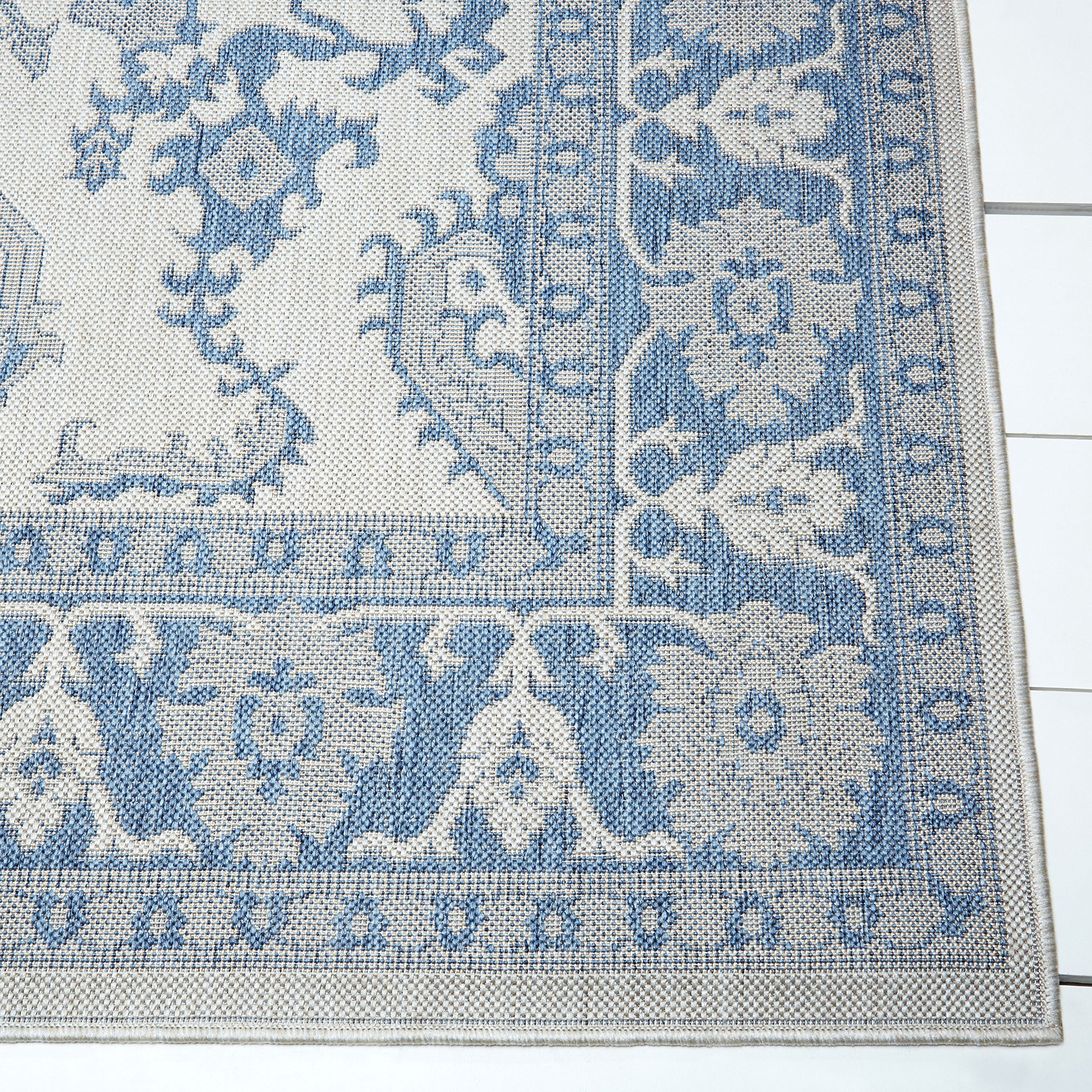 Home Dynamix Nicole Miller Patio Country Ayana Indoor/Outdoor Area Rug 7'9''x10'2'', Traditional Gray/Blue by Home Dynamix (Image #3)