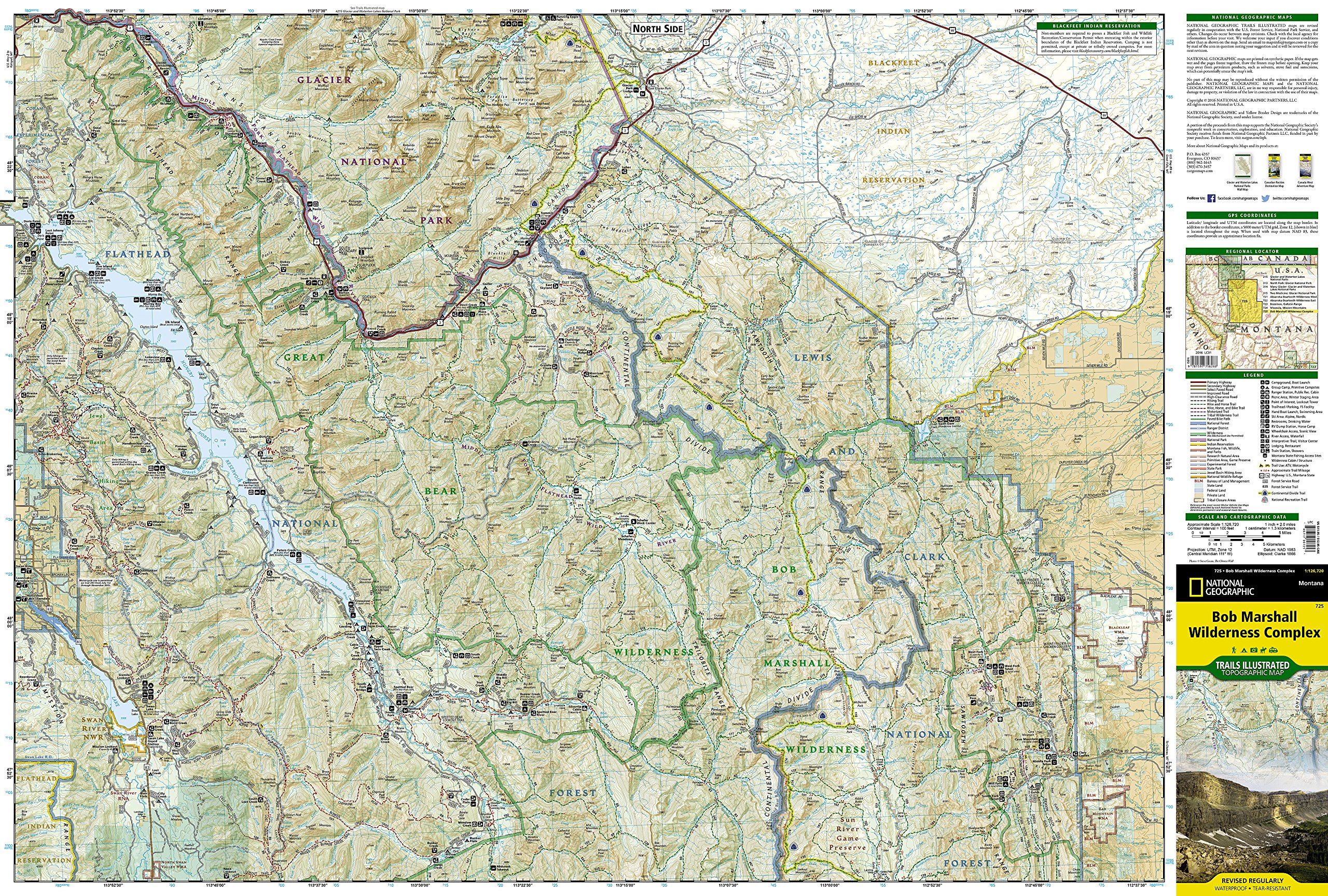 Bob Marshall Wilderness Map Bob Marshall Wilderness (National Geographic Trails Illustrated