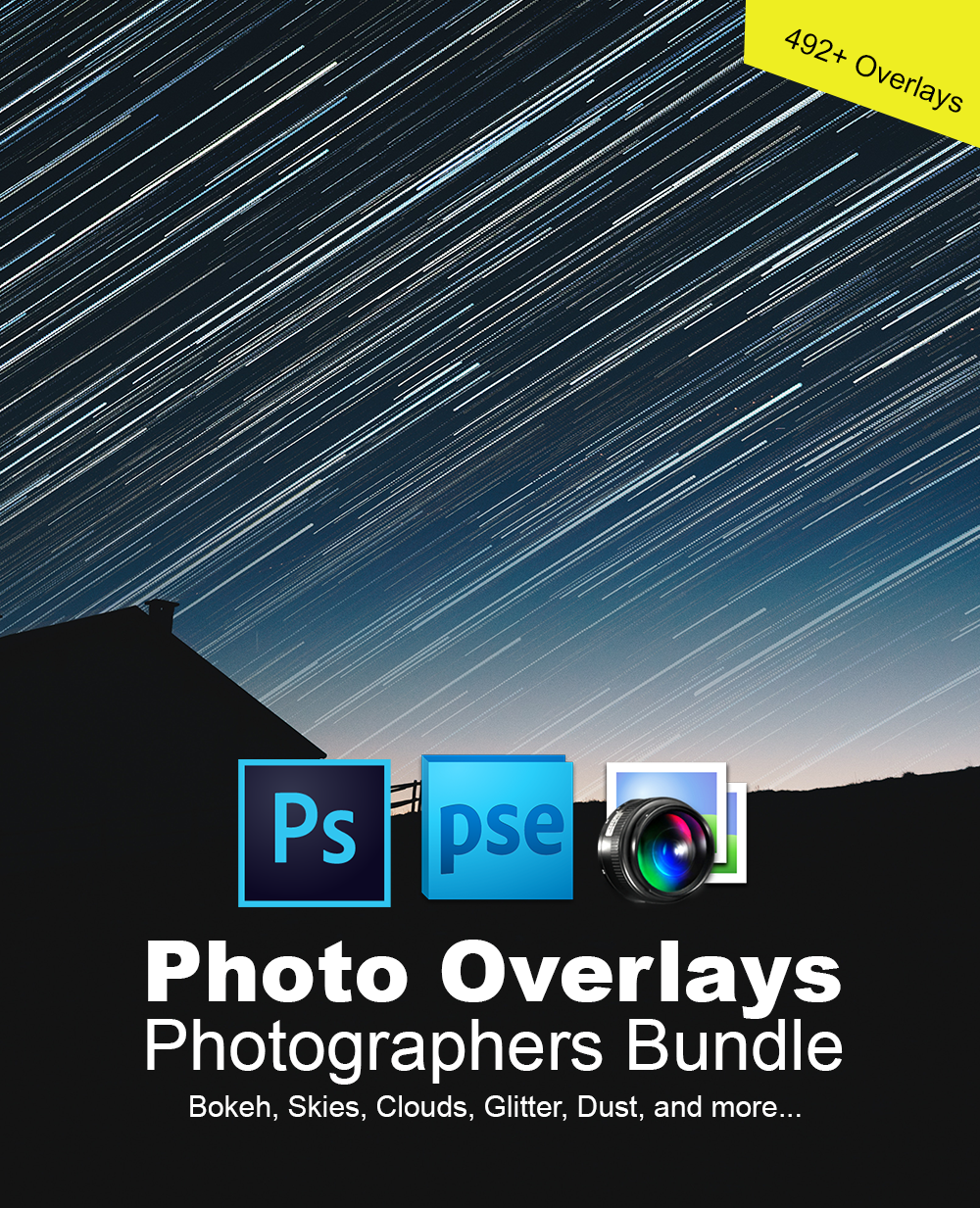 492+ Photoshop Overlays - MAMMOTH Collection - Bundle of Photo Overlays for Photographers Great for Enhancing Photos [Download]