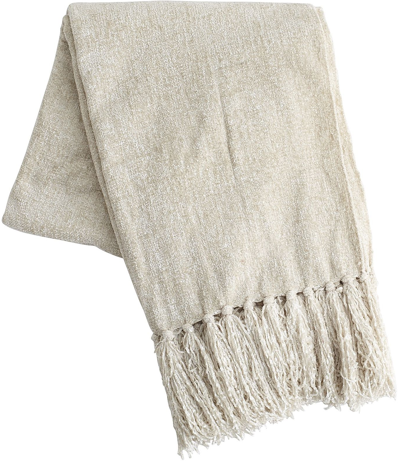 Ivory Chenille Throw | Pier 1 Imports