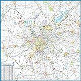 Amazon Com Zip Code Wall Map Of Atlanta Ga Zip Code Map Laminated