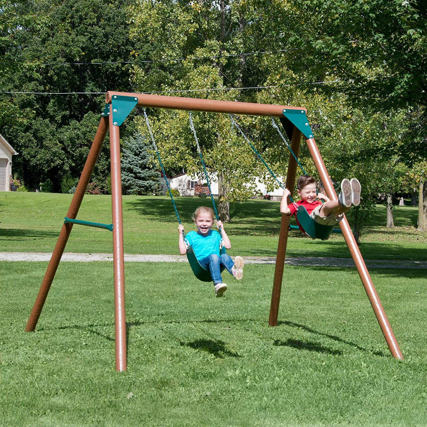 amazon com equinox swing set toys u0026 games