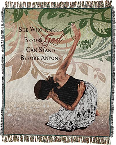 African American Expressions – She Who Kneels Tapestry Throw 100 Cotton, 4 x 5 TH-22