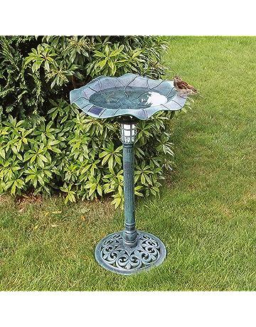 Vintage Used Repainted Black Cast Iron Metal Birdbath Bowl Garden Décor Old Colours Are Striking Garden & Patio