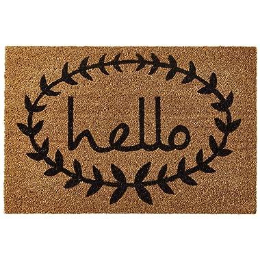 Home & More 121812436 Calico Hello Doormat, Natural/Black, 24  x 36  x 0.60
