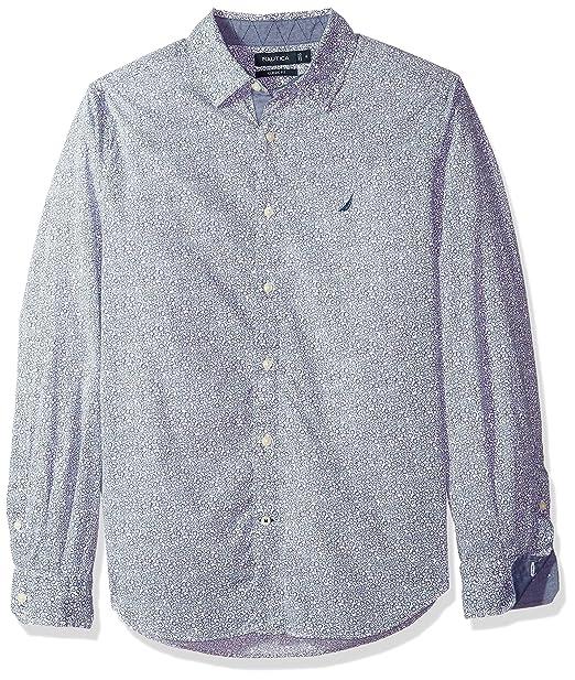 Nautica Hombres Classic Fit Long Sleeve Print Pattern Button Down Shirt Manga  Larga Camisa de Botones - Azul -  Amazon.es  Ropa y accesorios 18ce0089c0ae7