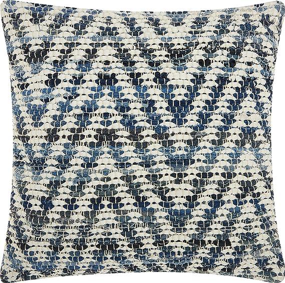 Amazon Com Nourison Mina Victory Dc933 Life Styles Woven Chevron Throw Pillow 20 X 20 Denim Home Kitchen