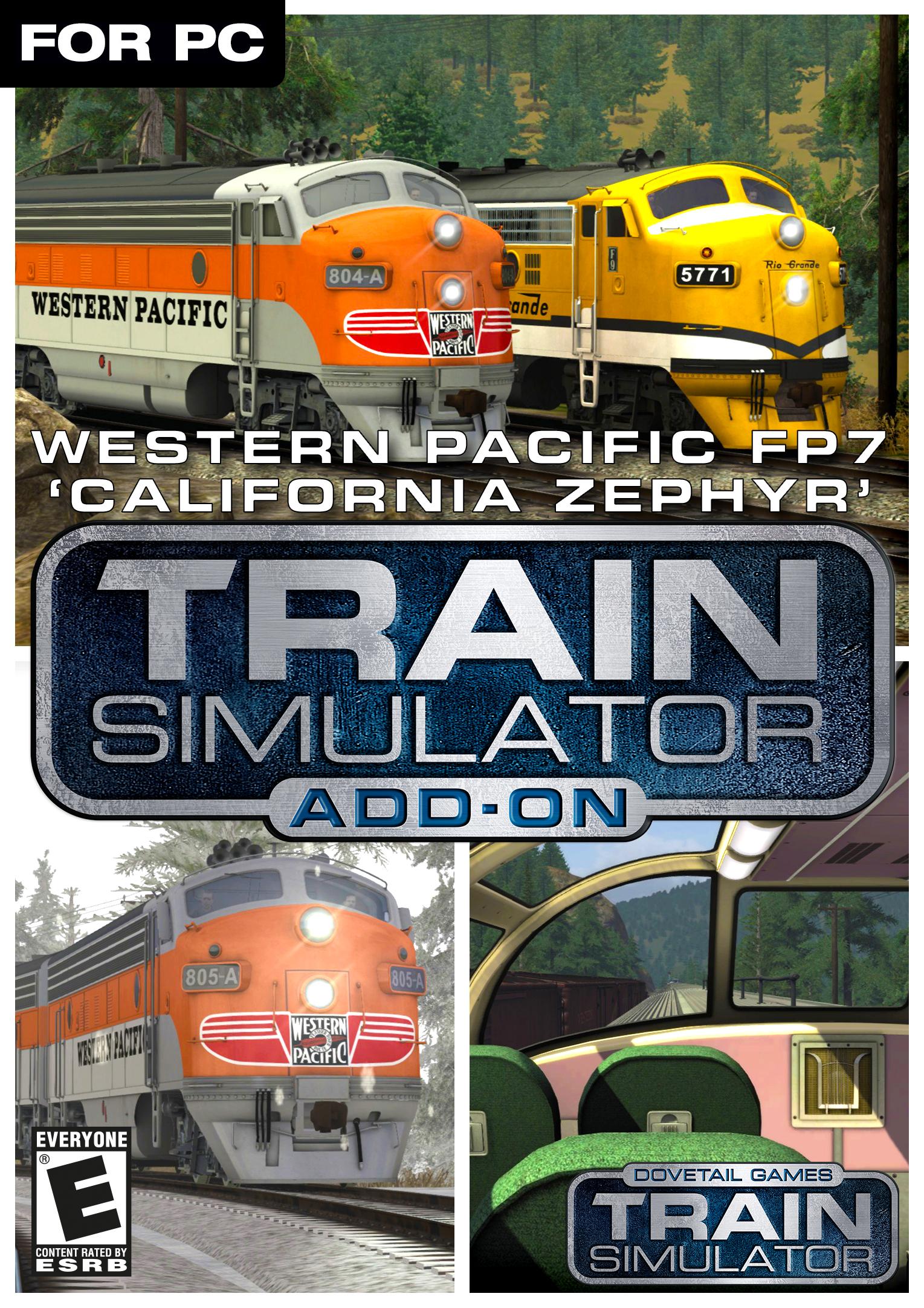 Train Simulator: Western Pacific FP7 'California Zephyr' Loco Add-On [Online Game Code] Baggage Dormitory Car