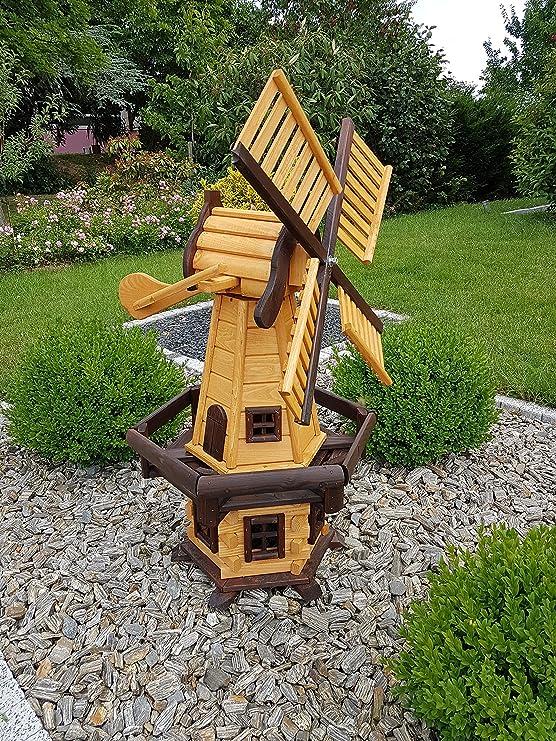 Molino de viento Windmühlen de madera para jardín Rodamiento de Bolas impermeabilizada grande 1, 2 m grande: Amazon.es: Jardín