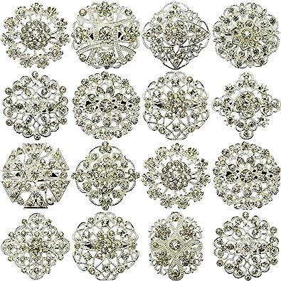 TOOKY 12PCS MIX SET Silver/Gold Wedding Bridal Pearl Flower Brooch Brooches Corsage Bouquet Decor Wholesale Lot DIY BROACH 7LaJMHViD6