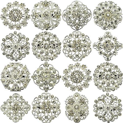 Nuevo 12 piezas MIX con diseño de PIN broches broche con forma de boda  JOBLOT con una tira de brillantes Direct Hardware diseño de ramo de DIY   Amazon.es  ... 4360dad4fd5