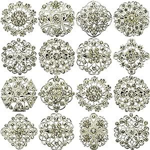 Nuevo 12 piezas MIX con diseño de PIN broches broche con forma de boda JOBLOT con una tira de brillantes Direct Hardware diseño de ramo de DIY
