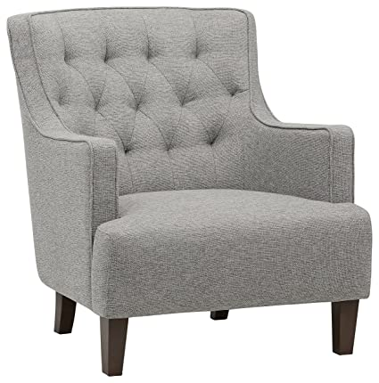 Astounding Stone Beam Decatur Modern Tufted Wingback Living Room Accent Chair 32 3W Silver Andrewgaddart Wooden Chair Designs For Living Room Andrewgaddartcom