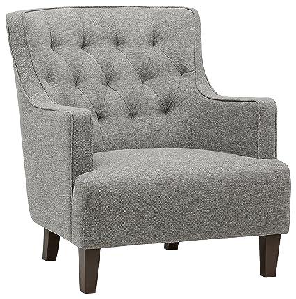 Attrayant Stone U0026 Beam Decatur Modern Tufted Accent Chair, 31u0026quot;W, Silver