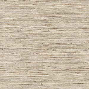 RoomMates RMK9031WP Grasscloth Peel and Stick Wallpaper, Taupe/Gold