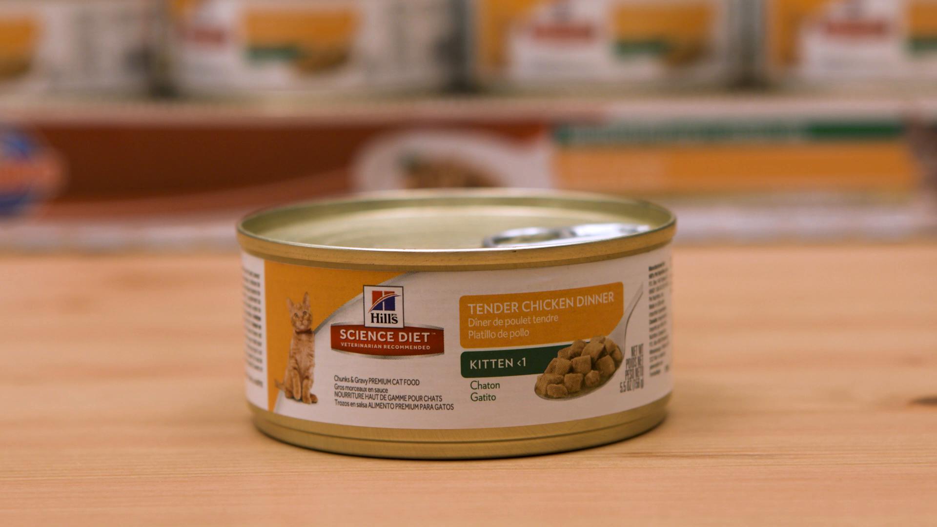 Hills Science Diet Kitten Tender Chicken Dinner Chunks and Gravy Cat Food Can, 24-Pack