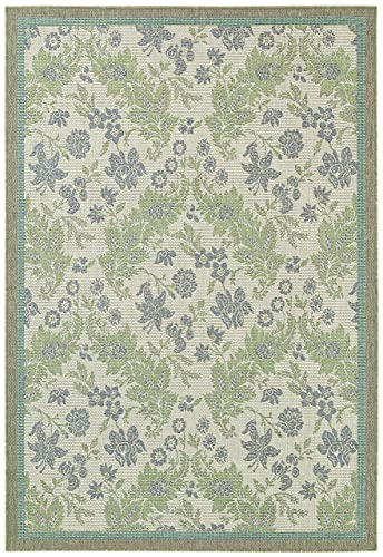 Couristan 2481 3212 Monaco Palermo Area Rugs, 5-Feet 10-Inch by 9-Feet 2-Inch, Champagne