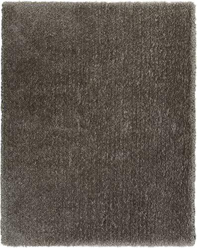 Rivet Shaggy Short Rug, 7 6 x 9 6 , Charcoal