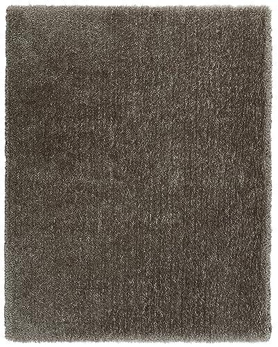Rivet Shaggy Short Rug, 5 x 8 , Charcoal