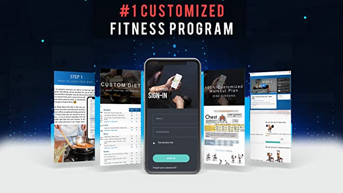 #1 Personalized Workout Program - 100% Customized Fat Loss Program With 3  Different Diets, Ketogenic, Fasting or Special Diet Geared For Fat Loss And