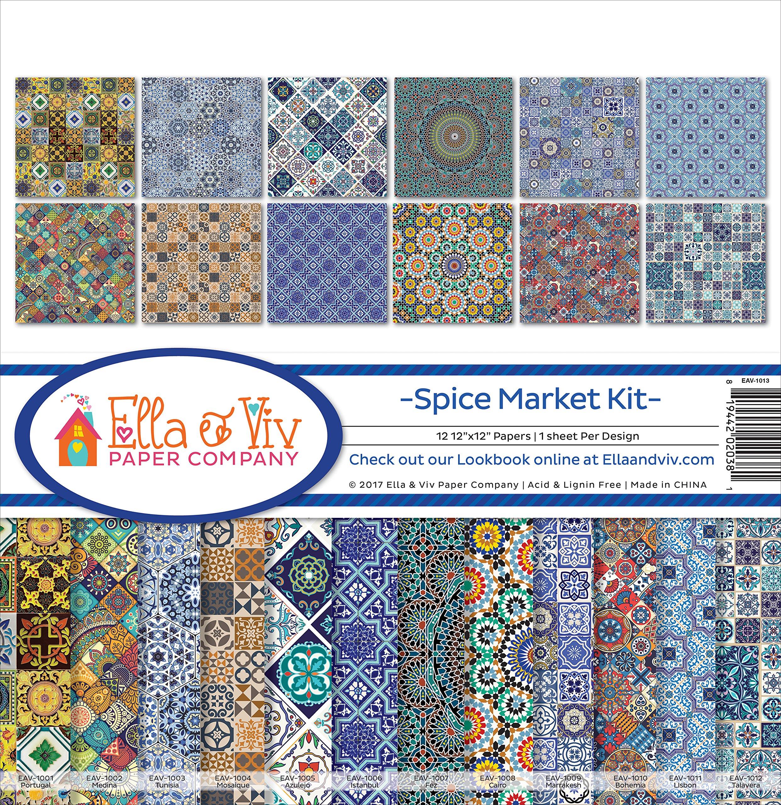 Ella & Viv by Reminisce Spice Market Scrapbook Collection Kit by Ella & Viv by Reminisce