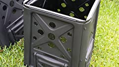 Amazon.com: Redmon Verde Cultura 65 Galón Compost Bin: Home ...