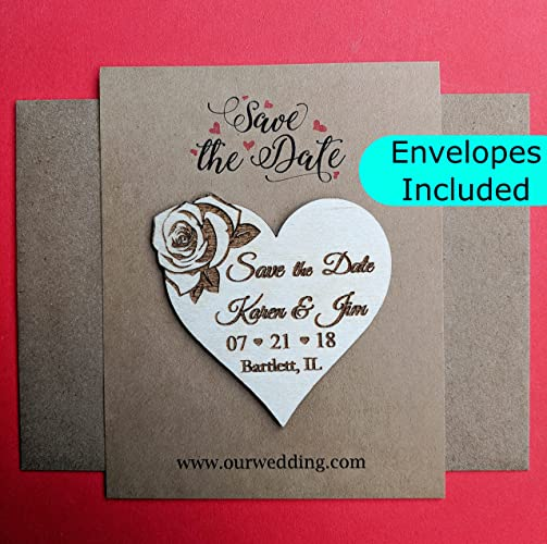 amazon com heart save the date magnet rustic wedding announcements
