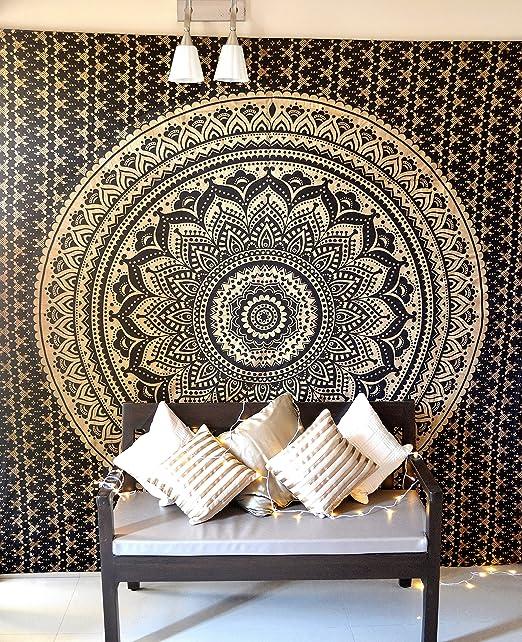 Bohemian Mandala Indian Ethnic Yoga Meditation Mat Wall Hanging Tapestry Decor