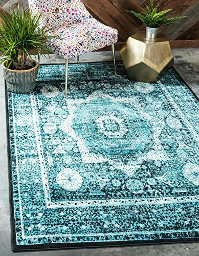 Unique Loom Imperial Collection Modern Traditional Vintage Distressed Blue Area Rug 10 0 x 13 0