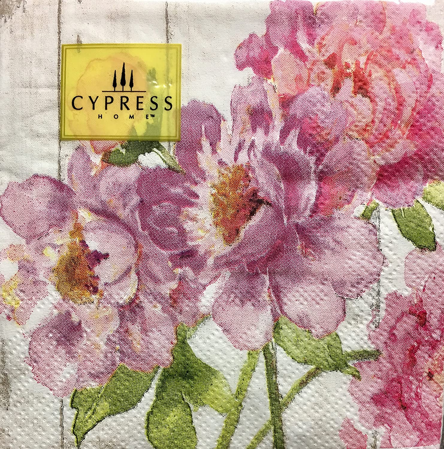 Cypress Home Cocktail Beverage Paper Napkins ~ Pink Peony