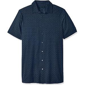8ae505e96 Amazon.com: Perry Ellis Men's Big and Tall Geo Print Stretch Shirt ...