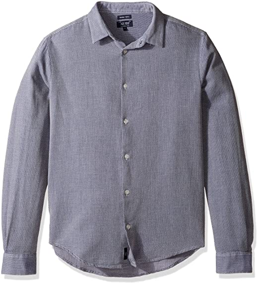 01cb16de Amazon.com: Armani Jeans Men's Textured Long Sleeve Button Down ...
