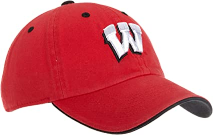 on sale b94df 78028 Wisconsin Badgers Adult Adjustable Hat, Red