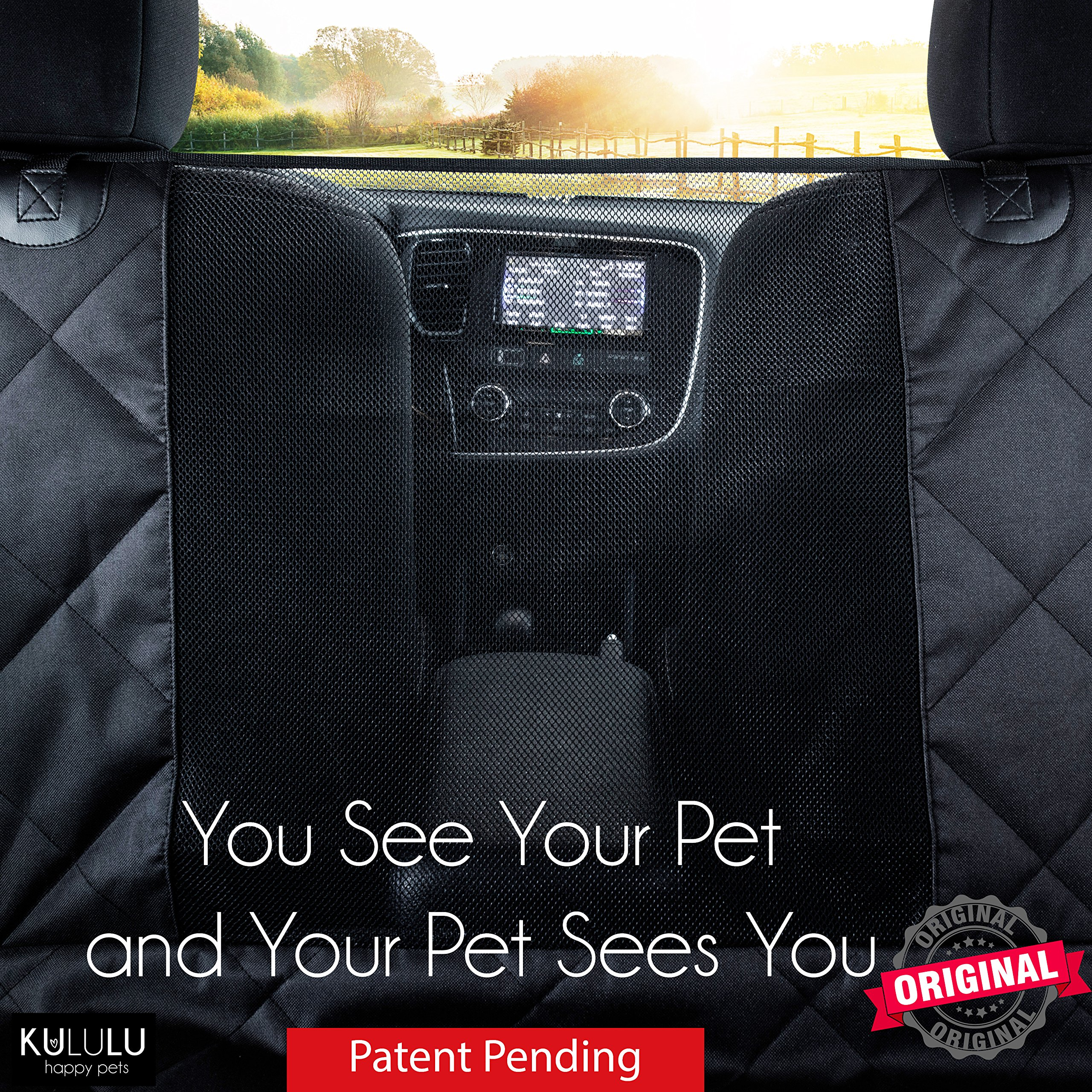 PREMIUM XL Dog Car Seat Cover Hammock Style And Cargo Liner For Cars, Trucks And Suv's. The Original Design You Can See Your Pet & Your Pet Sees You with the ClearView Window- Keeps Your Pet Calm. by Kululu (Image #2)