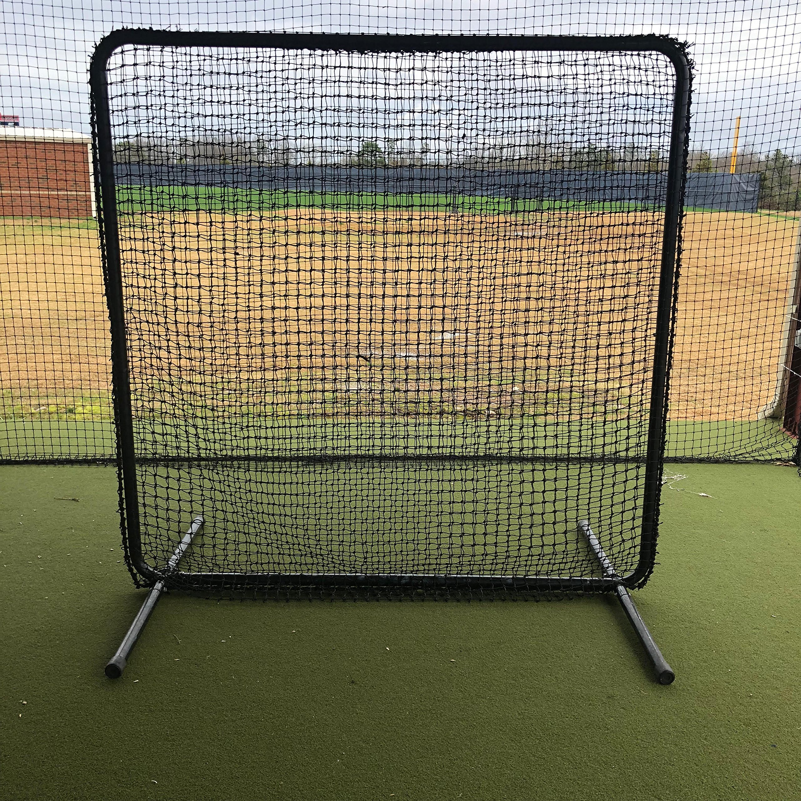 GAMERS SPORTS GROUP Baseball Field Screen 7'x7' 1 5/8'' OD 16 Gauge Steel and 60 Gauge HDPE NET by GAMERS SPORTS GROUP