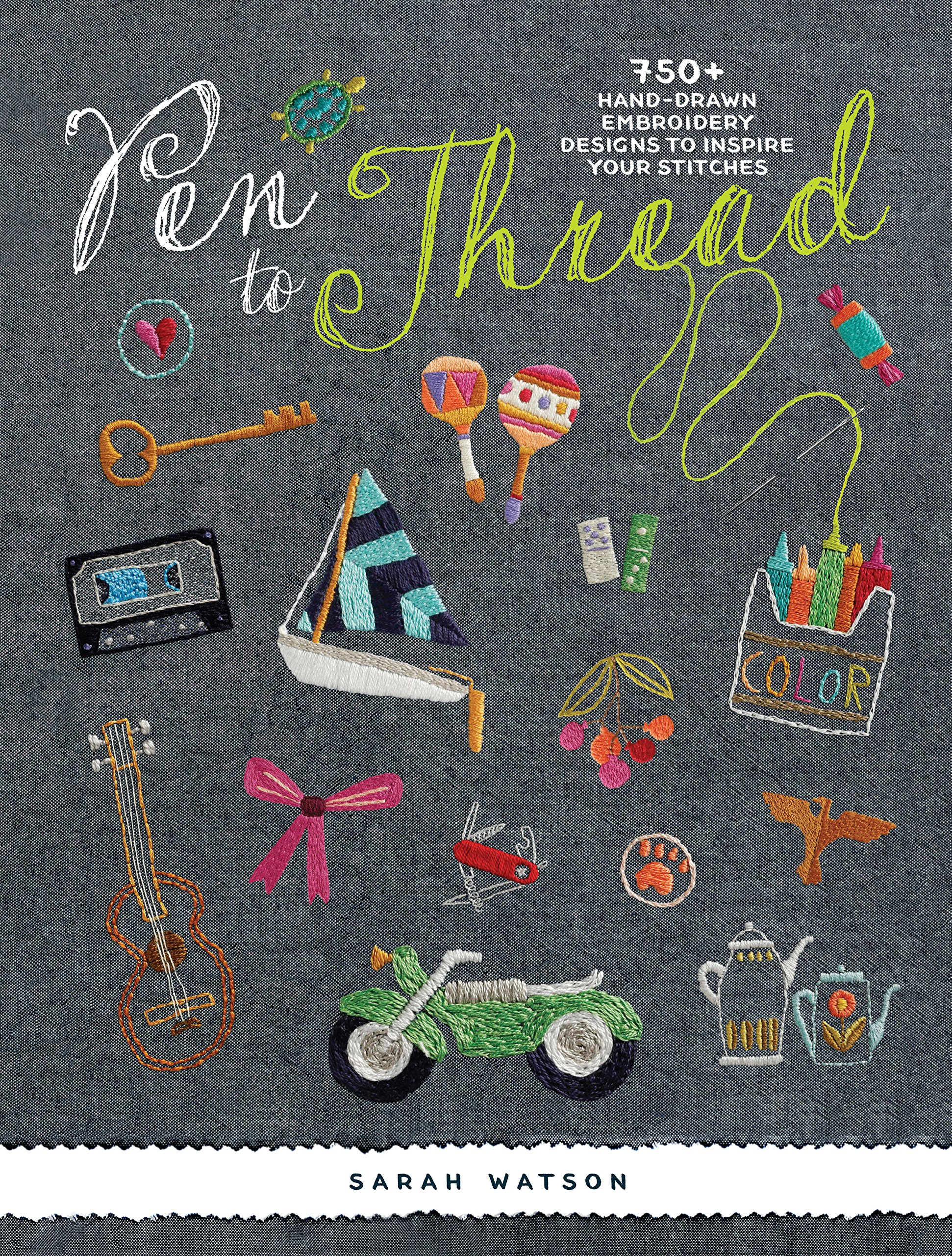 Pen To Thread 750 Hand Drawn Embroidery Designs To Inspire Your