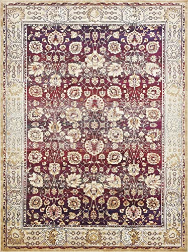Unique Loom Augustus Collection Boho Traditional Vintage Red Area Rug 10 6 x 16 5