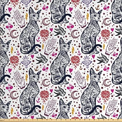 Amazon Ambesonne Egyptian Fabric By The Yard Traditional