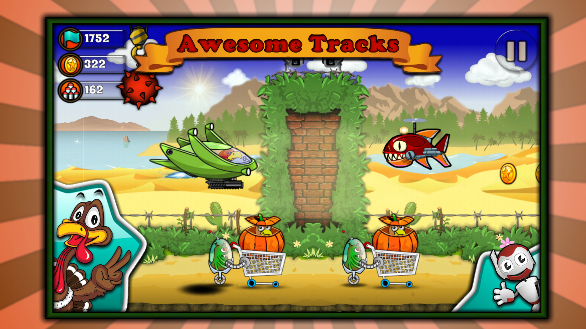 Crazy Turkey Run and Fun - Free Christmas game for kids ...