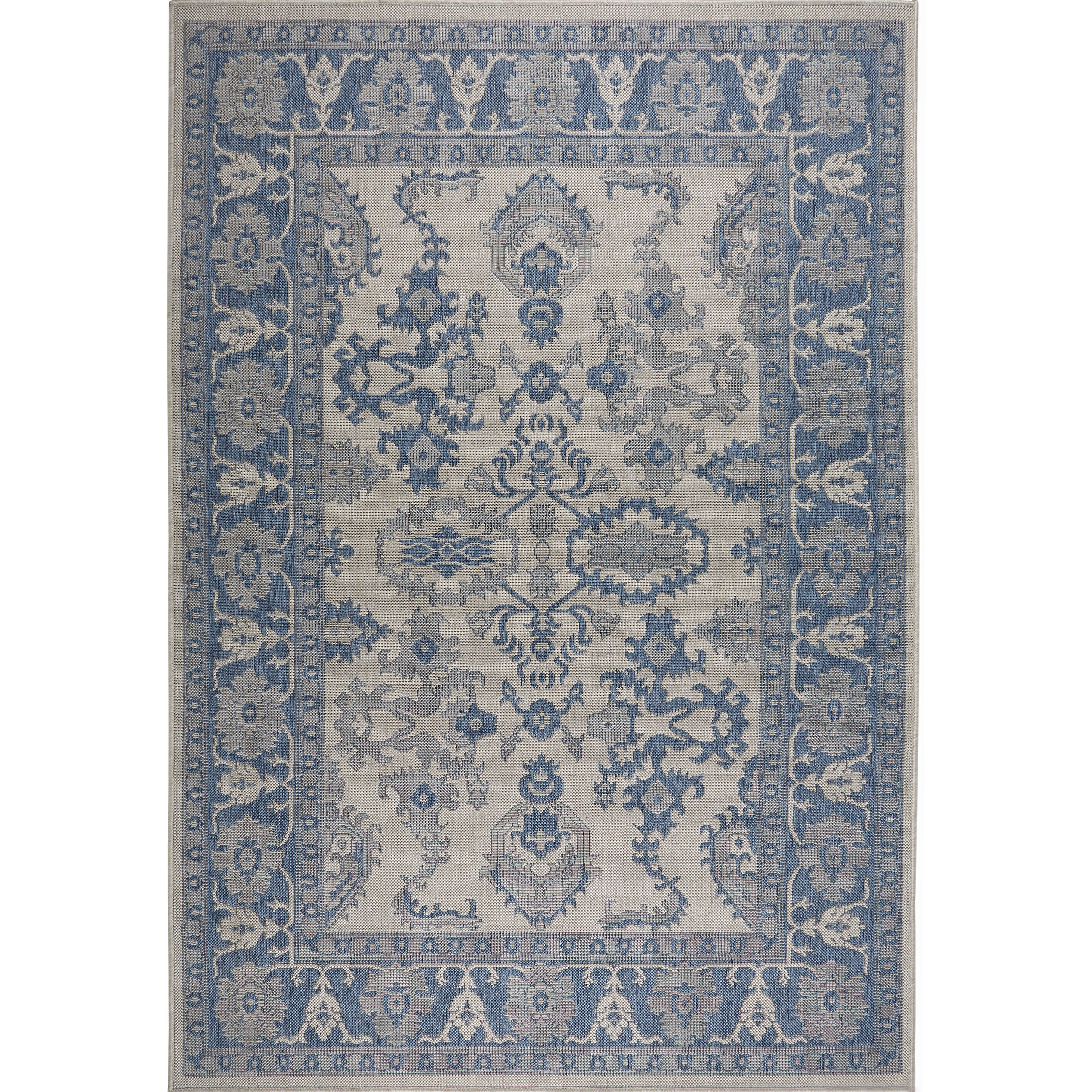 Home Dynamix Nicole Miller Patio Country Ayana Indoor/Outdoor Area Rug 7'9''x10'2'', Traditional Gray/Blue by Home Dynamix (Image #2)
