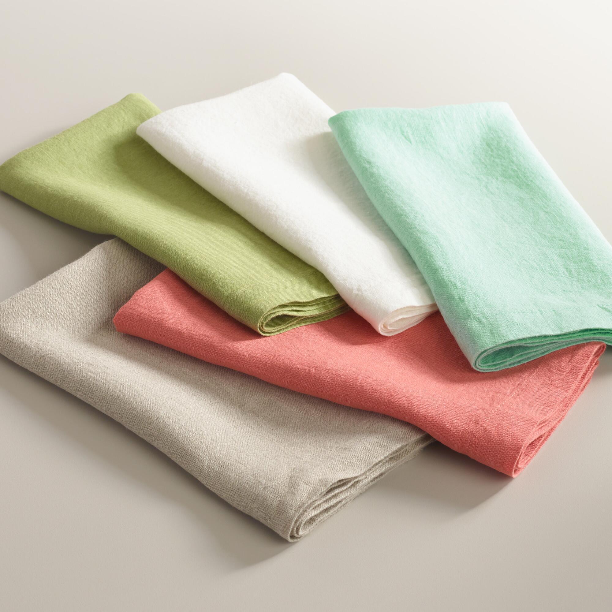 Natural 100% Linen Napkins Set of 4 | World Market