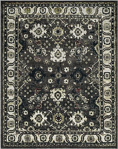 Safavieh Vintage Hamadan Collection VTH214M Dark Grey and Ivory Area Rug 9 x 12