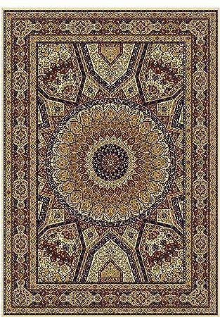 Silk Persian Qum Design Area Rug 2x4 Beige Ivory Traditional Rugs Hallway Small 2x3
