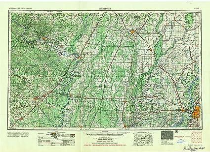 Amazon Com Yellowmaps Memphis Tn Topo Map 1 250000 Scale 1 X 2