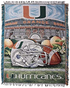 "Officially Licensed NCAA ""Home Field Advantage"" Woven Tapestry Throw Blanket, 48"" x 60"", Multi Color"