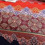 Exclusivo Mezcla 100% Cotton 3-Piece Rich Printed
