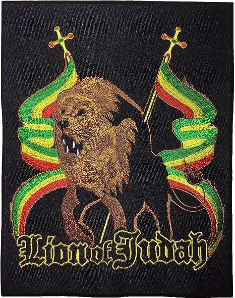 [gran tamaño] papapatch León de judá Rasta bandera África Reggae chaqueta chaleco disfraz bordado